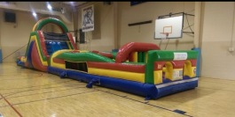 60 ft. Super Obstacle Course w/ Slide - $400